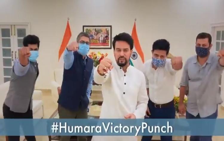 खेल मंत्री ने तोक्यो ओलिम्पिक में भारतीय खिलाड़ियों को प्रोत्साहित करने के लिए हमारा विक्टरी पंच अभियान शुरू किया
